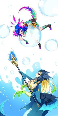 Nami and Neeko League Of Legends Comic, League Of Legends Characters, Game Character, Character Design, Anime, Avatar, Art Boards, Game Art, Levis