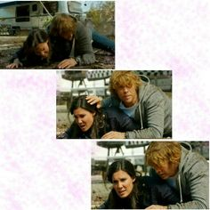 Densi ncis la deeks and kensi. He's still trying to protect her, after all they went through!