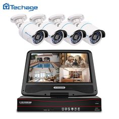 "Techage 8CH 1080P CCTV System 10.1"" LCD POE NVR Kit Indoor Outdoor IP Camera Home Security P2P Video Surveillance System Set  Price: $ 305.99 & FREE Shipping   #computers #shopping #electronics #home #garden #LED #mobiles"
