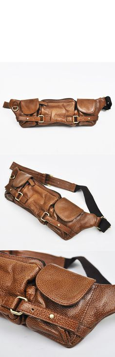 Accessories :: Bags :: Multi-compartments Leather Hipsack-Bag 92 - Mens Fashion Clothing For An Attractive Guy Look