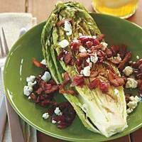 Guy's Grilled Romaine with Bacon-Blue Cheese Vinaigrette - So Good!!