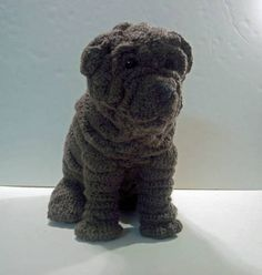 Crochet Sharpei - This is seriously crazy amazing crochet... WOW.