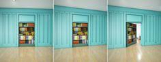 Hidden Room Bookcase   #hiddenroom #bookcase #door Bookcase Door, Hidden Rooms, Home Automation, Locker Storage, Flooring, Doors, Cabinet, Furniture, Design