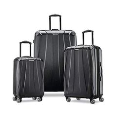 $397.58 Samsonite Centric 2 Hardside Expandable Luggage with Spinner Wheels, Black, 3-Piece Set (20/24/28) at Amazon