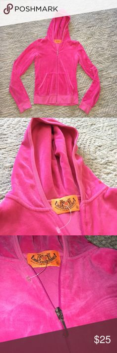 NWOT Juicy couture velour hoodie NWOT size small accurate color in the third photo Juicy Couture Tops Sweatshirts & Hoodies