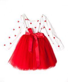 Look at this #zulilyfind! Red Heart Tutu Dress - Infant, Toddler & Girls by Designer Kidz #zulilyfinds