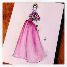 marchesafashionMake it pop. X We love @kellymuschiana's bright pink #Resort16 artwork! To get your work featured on our page, use the hashtag #marchesafanfriday. #marchesa @georginachapmanmarchesa @kerencraigmarchesa