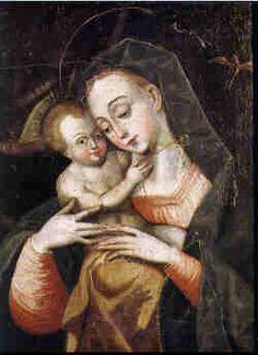 Virgen con el Niño (Virgen del pajarito) Bernardo Bitti Siglo XVI Oleo sobre tela 48 x 38 cm Museo Nacional de Arte, Bolivia