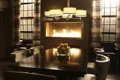 Image Of Richard Castle S Fireplace And Dining Table I Like The Light Fixture Raised Modern Fire