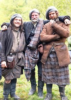 Outlander Italy FB page: Rupert (Grant O'Rourke), Dougal (Graham McTavish), and Murtagh (Duncan Lacroix)