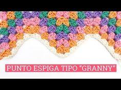 Punto espiga a crochet o zig-zag #4 estilo granny - YouTube