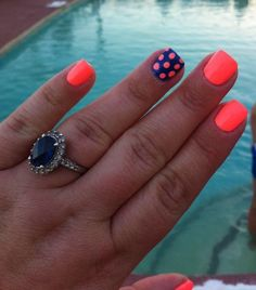 Polka Dots  Neon Nails by deborah