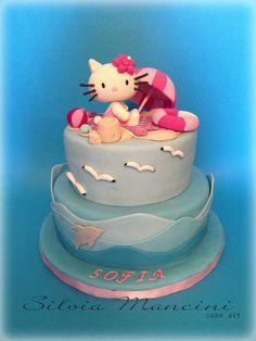 Hello Kitty on the beach - by Silvia Mancini Cake Art @ CakesDecor.com - cake decorating website