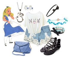 """""""Have I gone mad?"""" by found-herself-in-wonderland-13 ❤ liked on Polyvore featuring Disney, Juicy Couture, Kabella Jewelry, Simply Vera, Domo Beads and L. Erickson"""