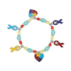 April is Autism Awareness Month. These puzzle bracelet craft kits would be the perfect activity for any get together and a great way to start a conversation about the importance of Autism Awareness. - OrientalTrading.com