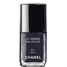 Orage - a gorgeous color which means storm/gale in French. A perfect moody grey-blue-black. CHANEL - LE VERNIS NAIL COLOUR More about #Chanel on http://www.chanel.com