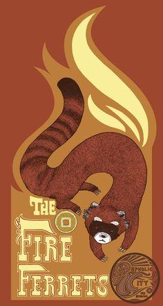 The Legend of Korra; Bending team The Fire Ferrets