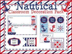 Nautical Classroom Decoration Pack- $55 www.etsy.com/shop/lollylanddesigns