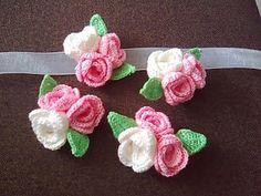 crochet corsage/boutinere idea