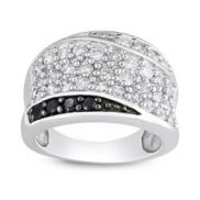 M by Miadora Sterling Silver Black and White Cubic Zirconia Fashion Ring (Size Women's Ring Stores, Cubic Zirconia Rings, Rings Cool, Rings Online, Fashion Rings, Jewelry Watches, Bling, Engagement Rings, Jewels