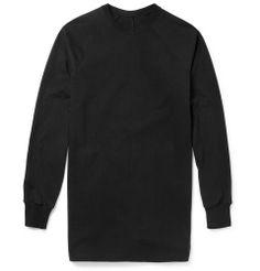 Rick Owens Long Length Cotton Jersey Sweatshirt
