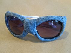 DIY Back-to-School Fashion - DIY Projects for Teens - Seventeen IT IS BLUEJEANED SUNGLASSES!!!!!!