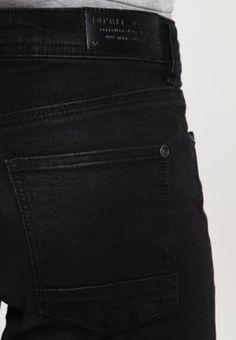 Esprit Jean slim - black dark wash - ZALANDO.FR