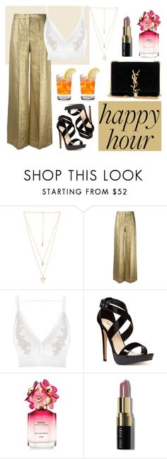 """""""Summer Happy Hour"""" by marce104 ❤ liked on Polyvore featuring Natalie B, Etro, River Island, Nine West, Marc Jacobs, Bobbi Brown Cosmetics, Yves Saint Laurent, Summer and happyhour"""