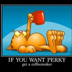 If you want perky, get a coffeemaker / Coffee Shop Stuff