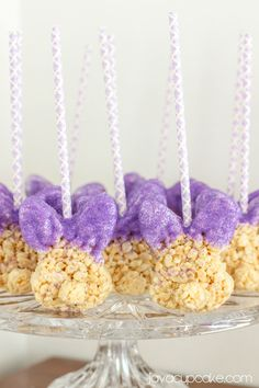 Hand Dipped Rice Krispie Bunny Pops! Creating a Glam Easter Brunch & Tablescape on a Budget | JavaCupcake.com