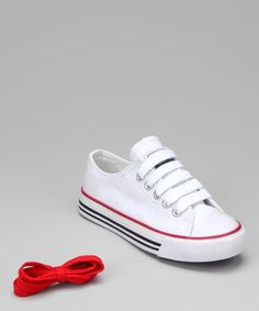 Take a look at this Collection'O White & Red Sneaker by Collection'O on #zulily today!