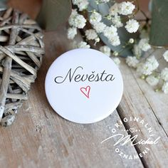Svatební placka / buttonek - 52 Place Cards, Place Card Holders, Wedding, Valentines Day Weddings, Weddings, Marriage, Chartreuse Wedding