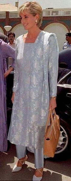 May 22, 1997: Diana, Princess Of Wales arriving at Lahore Airport in Pakistan.