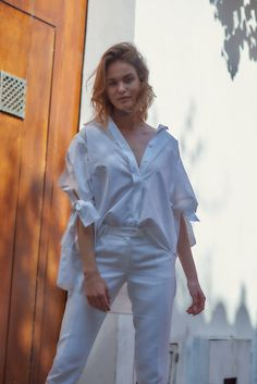 Silvia Tcherassi Spring Summer 2017  Cotton shirt, statement sleeves, street style