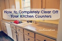 Is you kitchen cluttered and messy? You won't believe the difference it makes to completely clear off your kitchen counters! Here's how to do it, will you join me?