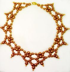 Free pattern for necklace Toffee | Beads Magic
