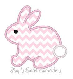 Pascua Bunny máquina bordado apliques por SimplySweetEmbroider
