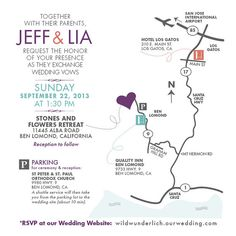 #Wedding #Map #Invitation / Custom Design / by papercakedesigns, $75.00