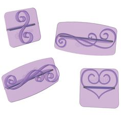 <p>Easily imprint beautiful decorative elements on buttercream or fondant cakes using this 28-piece set.</p> <UL> <li>Each press alone creates a design imprint in icing, but the multiple corner, border and icon designs work perfectly together as well.</li> <li>Also works great with cookie dough.</li> <li>To use: With very light pressure, press design onto the side or top of cake to leave a slight impression. With a decorating bag and desired top, pipe over design.</li> <li>When using…