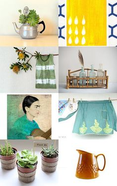 Springtime Pattern Mix by Magpie House on Etsy--Pinned with TreasuryPin.com