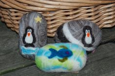 Felted Soap Merino Wool Penguin Or Fish