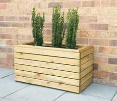 157174 - Forest Garden Linear Long Planter 120 X 40 Wooden Garden Planters, Wooden Planter Boxes, Tall Planters, Planter Pots, Long Planter Boxes, Planter Bench, Contemporary Planters, Contemporary Style, Modern