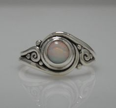 27fa08bf6f Sterling Silver Ethiopian Opal Ring One of a by DenimAndDiaJewelry
