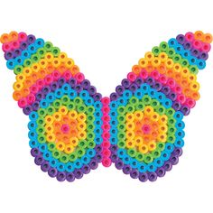 <p>This colorful butterfly surely lives at the edge of the rainbow! You can hang it in a window as a suncatcher, or use a magnet to display it on the fridge.</p>