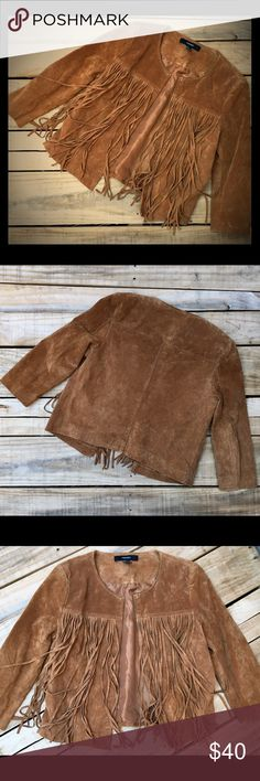Cowgirl Boho Hippie Gypsy Fringed Leather Jacket Forever 21 Leather Suede Whiskey Color Fringed Jacket. Boho Festival Hippie Hippy Rocker Biker Gypsy Love Style. Fully Lined, No Signs of Wear!!! Forever 21 Jackets & Coats Blazers
