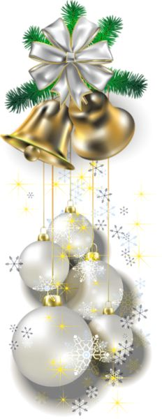 White Transparent Christmas Balls PNG Picture