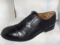 GUCCI MENS BLACK LEATHER CAP TOE SAMO MODEL SIZE 8.5/41-42 M 312279 RETAIL $644 #Gucci #Oxfords #Casual