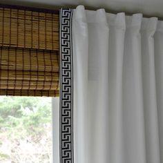 Ikea curtains makeover + bamboo roman shades