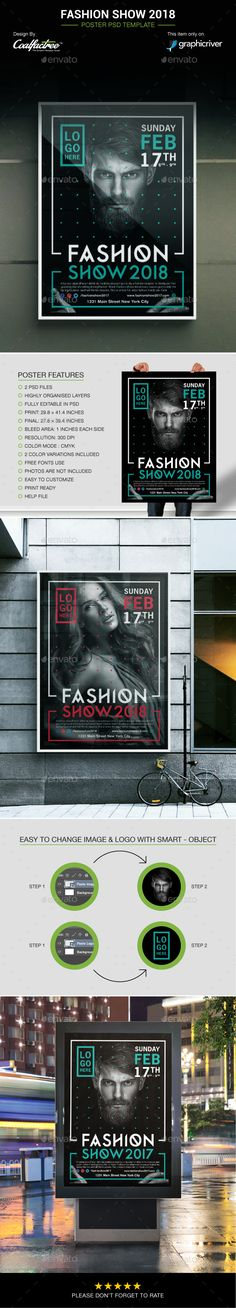 #Fashion Show 2018 Poster - Events #Flyers
