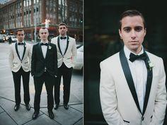black tie groomsmen - photo by Carina Skrobecki http://ruffledblog.com/seattle-escala-wedding